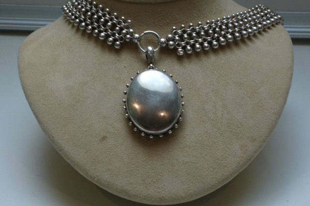 Victorian Sterling Silver Collar with Locket