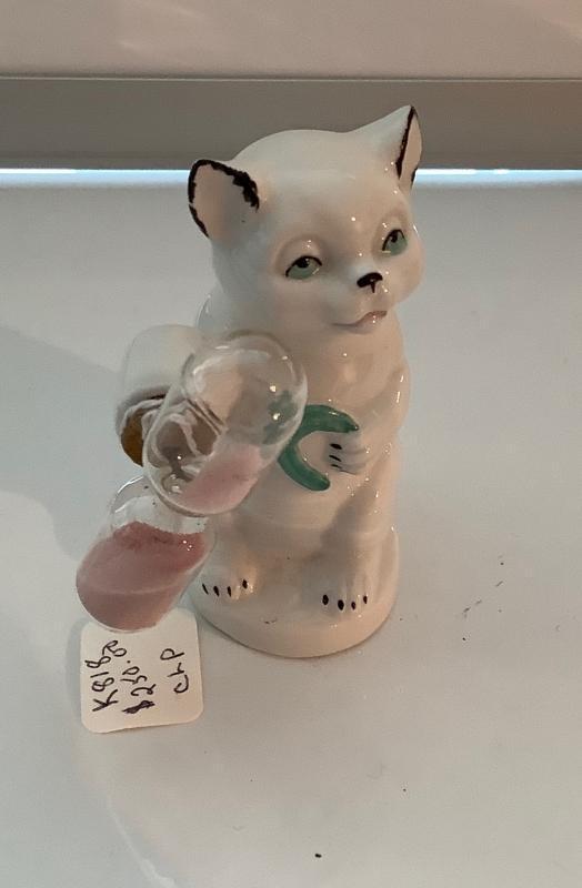 Ceramic Cat Hour Glass Timer