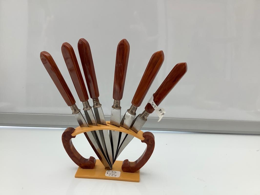 Bakelite Fruit knife Set