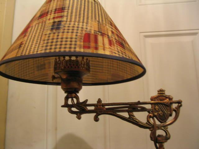 1920's Bridge Arm Floor Lamp