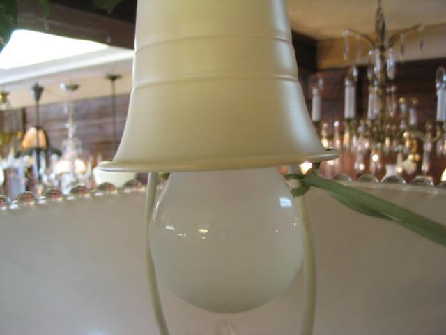 Vintage Single light flush mount ceiling fixture with Shade #345