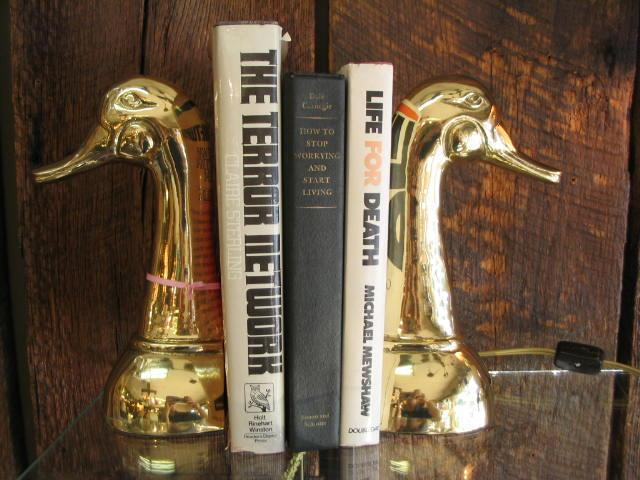 Solid Brass Pair of Swan Bookends (Heavy)