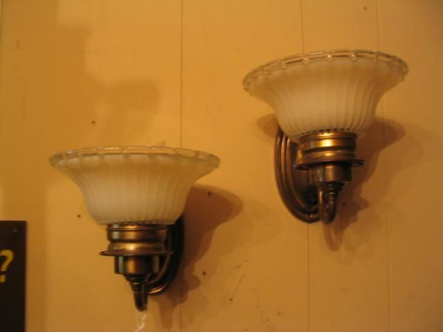 Vintage Pair 1930's DECO Style Sconces