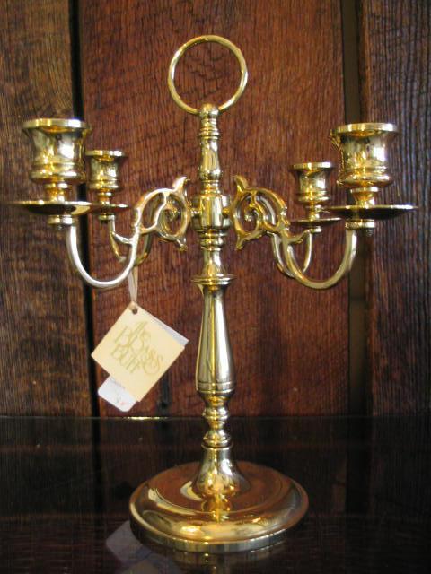 Polished Brass 4 Light Candelabra