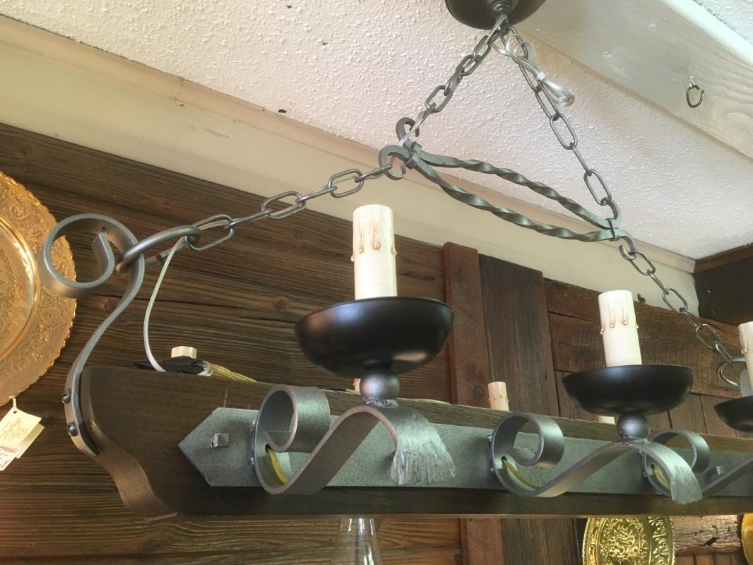 Vintage Medieval Style 8 Light Hanging Chandelier