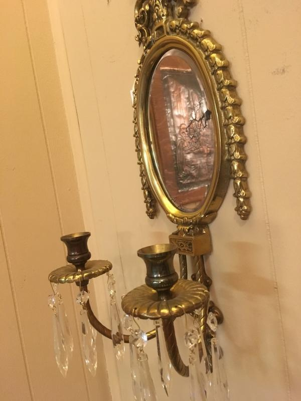 VINTAGE WALL MIRROR/CANDLE HOLDER