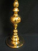 Solid Brass 3 Foot Tall Candleholder