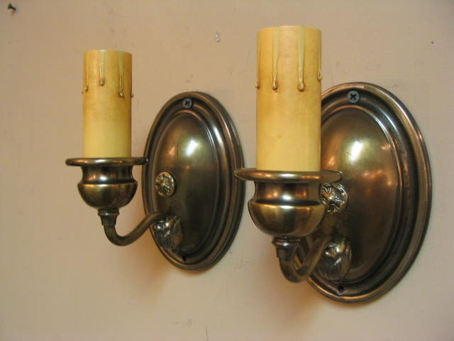 Wall Sconces Brass circa 1917