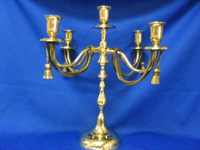 PAIR of  Solid Brass Candleabras