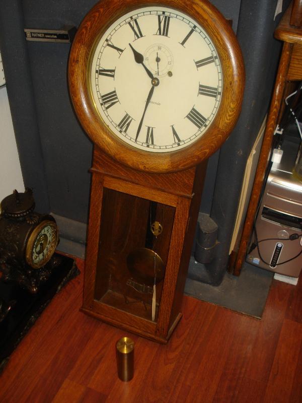 Nineteenth Century Ansonia Clock Company Weight Driven Regulator Clock Made For New York City Board Of Education