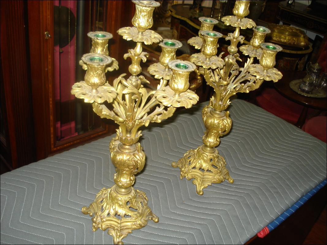 Nineteenth Century French Bronze Candelabra (Pair)