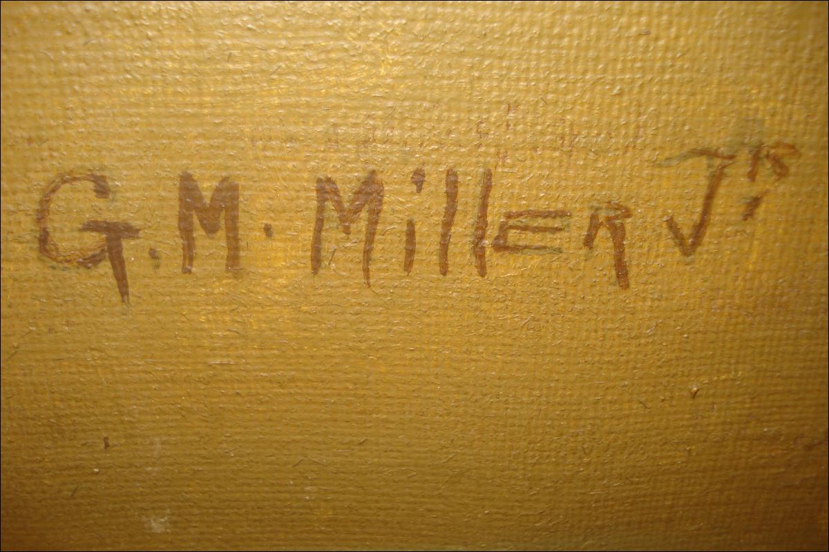 Early Twentieth Century Oil Painting By G. M. Miller, Jr.,