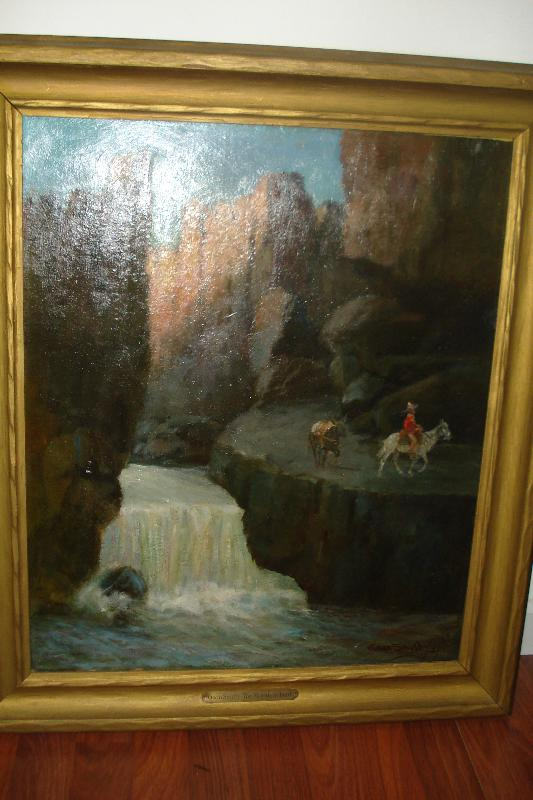 Early Twentieth CenturyAmerican Western  Oil Painting On Board Signed Gean Smith,