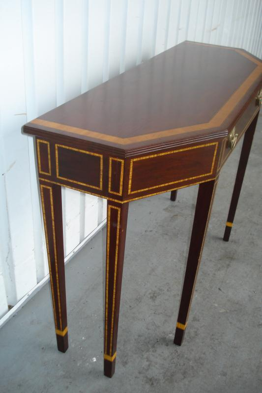 Nineteenth Century Federal Style Console Table Mahogany With Inlay Single Drawer