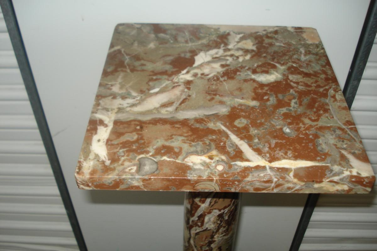 Late Nineteenth To Early Twentieth Century Marble And Bronze Pedestal