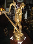 Signed 19th Century French Doré Bronze Sculpture by Eutrope Bouret