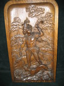 19th Century New York Hand Carved Oak Masterpiece