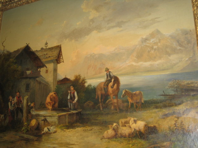 Nineteenth Century Continental Oil on Canvas