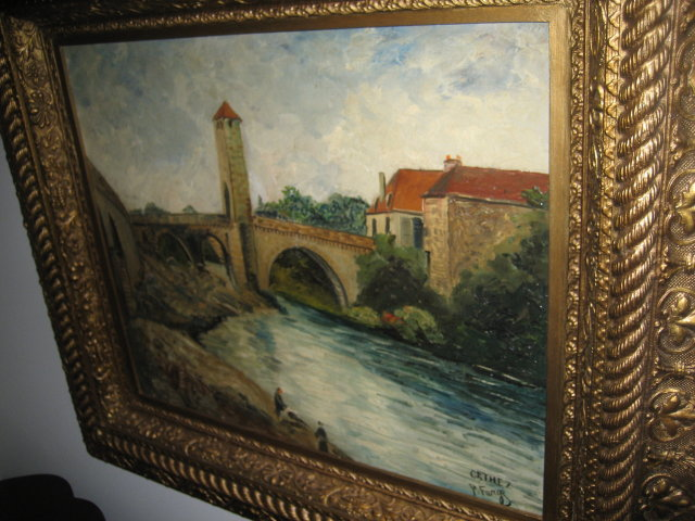 French 19th Century Oil on Canvas by Farge