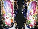 Pair of Nineteenth Century Paris Porcelain Hand Painted Vases