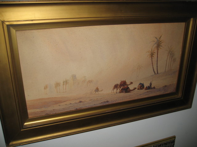 Nineteenth Century Watercolor on Paper,  Orientalist Scene,  Signed ,