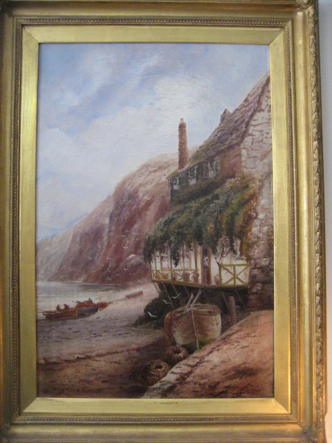 Late Nineteenth Century English Oil on Canvas Signed Arundate ,