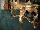 Late Eighteenth Century to Early Nineteenth Century, Carved And Gilded French Or Italian Chippendale Styled Rococo Center Table With Original Onyx Top