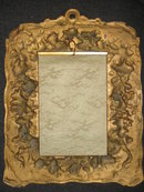 Late Nineteenth to Early Twentieth Century Oil on Porcelain Plaque with Ornate Bronze Frame, Unsigned,