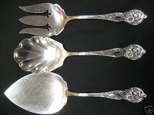 3 Piece Watson Orchard Sterling Silver Serving Set