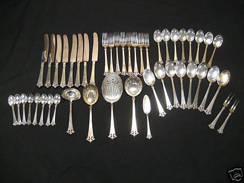 Atkinson Boys Sterling Silver Flatware Set 47 Pieces