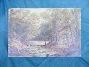 Painting Bronx River Dam OOB 1883 William R Miller