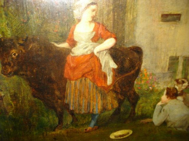 Original 19th Century Oil On Board by Joseph Navlet