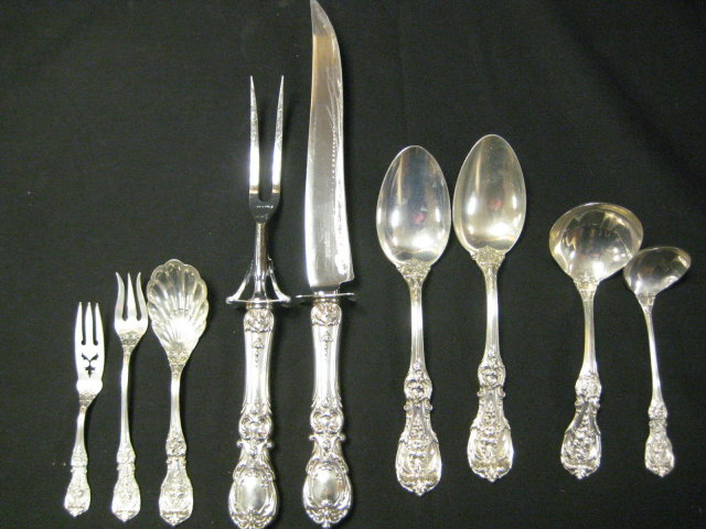 146pc Set Red & Barton Francis I Sterling Silver Flatware