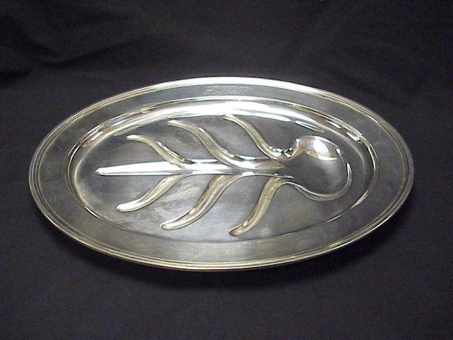 Tiffany & Co Sterling Silver Well & Tree Platter 15x20