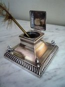 ENGLISH STERLING SILVER INKWELL