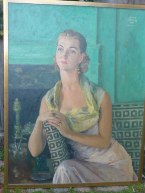 OIL ON CANVAS PORTRAIT BY SERGE YVANOFF