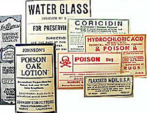 Medicine Poison Labels