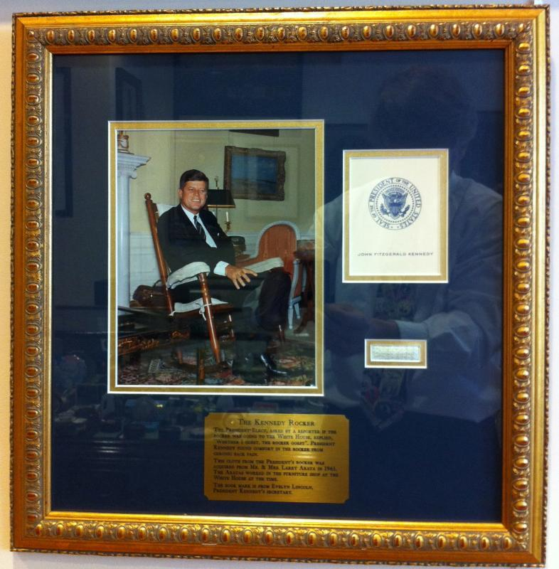Magnificent Fabric Of Jfks Rocking Chair Camellatalisay Diy Chair Ideas Camellatalisaycom