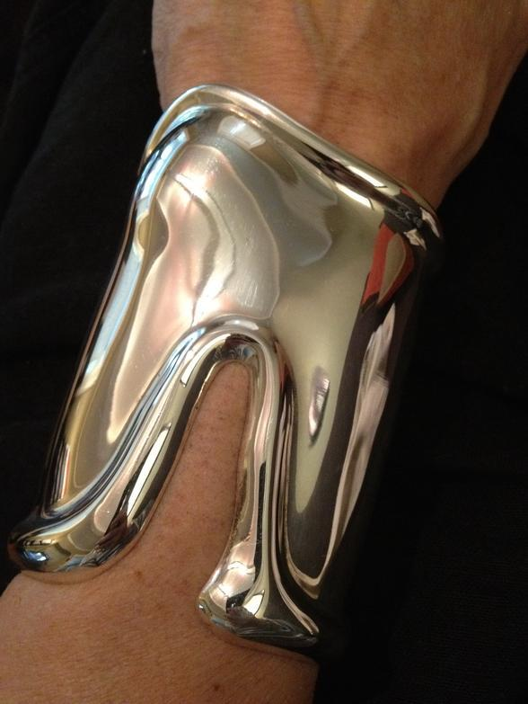 404c78886 Tiffany & Co. 1975 Elsa Peretti Long Bone Cuff Bracelet Sterling Silver