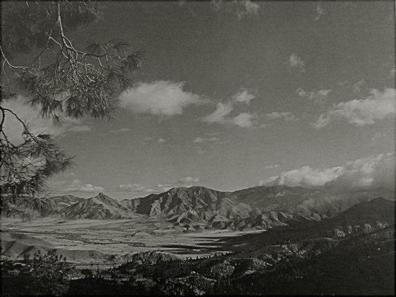 L. Burke Hills: majestic untitled landscape