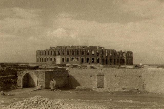 James D. Basey: Coliseum at El Jem, Tunisia