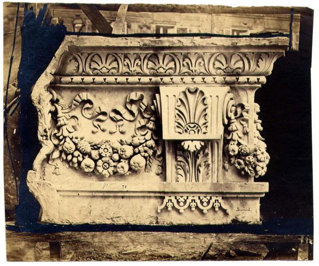 Baldus: Architectural detail, Louvre, Paris (Morand)