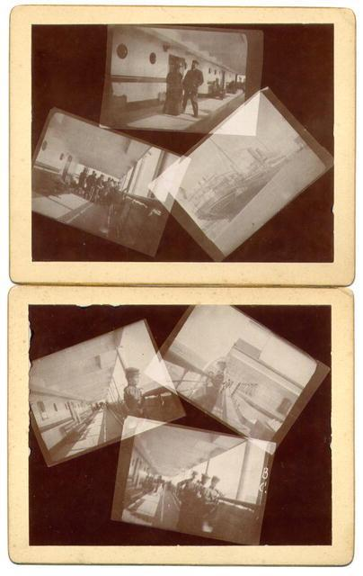 Shipboard Montage (set of 2 photographs)