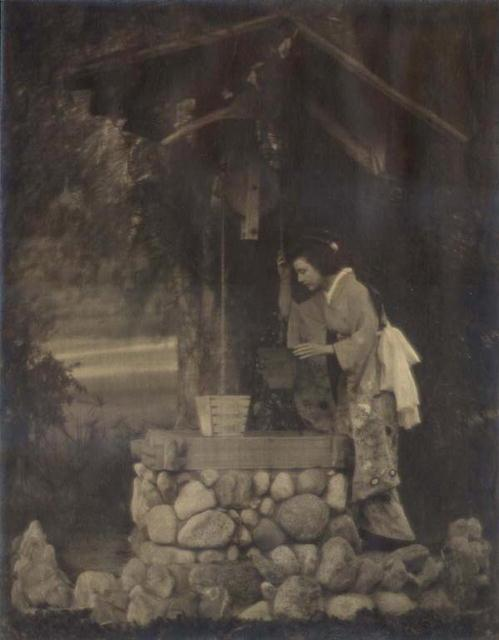 Woman in Kimono at the Well - Pictorialism