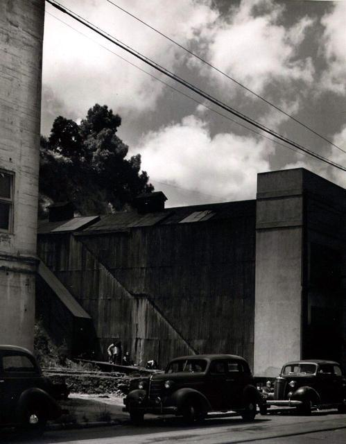 Corrugated Building with Cars