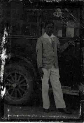 tintype: Black Boy with Automobile