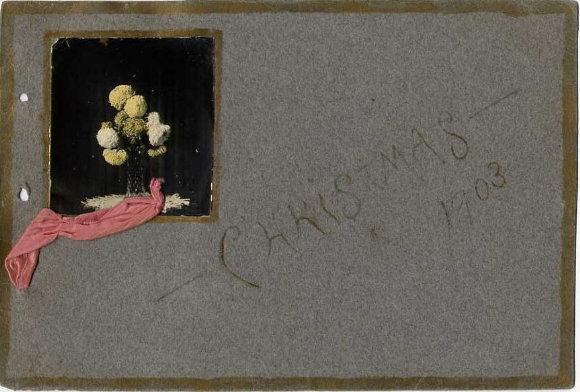 Christmas, 1903 (hand-painted flowers on album cover)