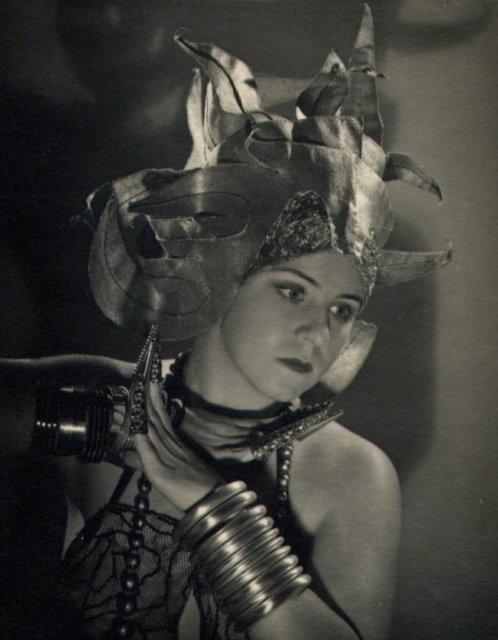 Portrait of a Woman (in elaborate headdress)