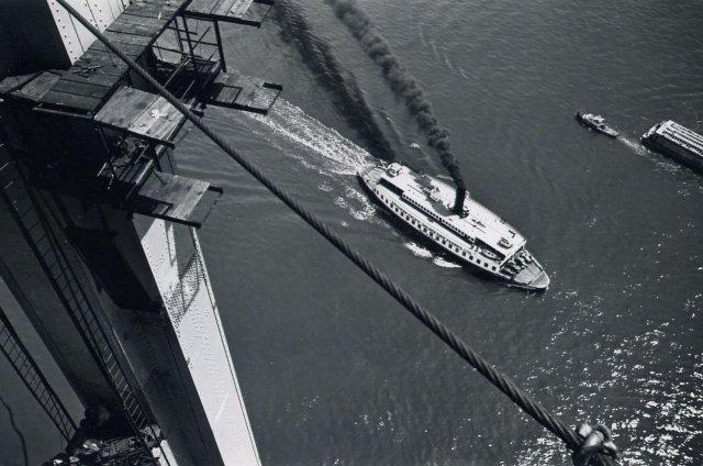 Peter Stackpole: Ferry Boat and Barge (Bay Bridge construction)