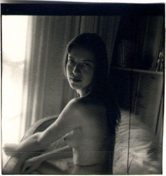 Ruth Bernhard untitled vintage proof (woman looking left)